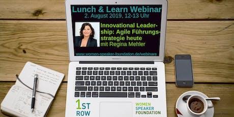 """Live-Webinar """"Innovational Leadership"""" mit Regina Mehler Tickets"""