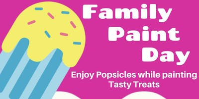 Family Paint Day at Hobby Lobby