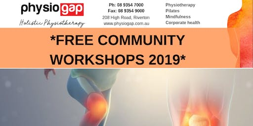 Free Community Workshops - Tips for Natural Pain Management