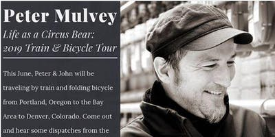 Peter Mulvey On His Bicycle / Train Tour - Stop at Friends House Concerts