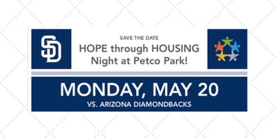 SAVE THE DATE HOPE through HOUSING Night at Petco Park!