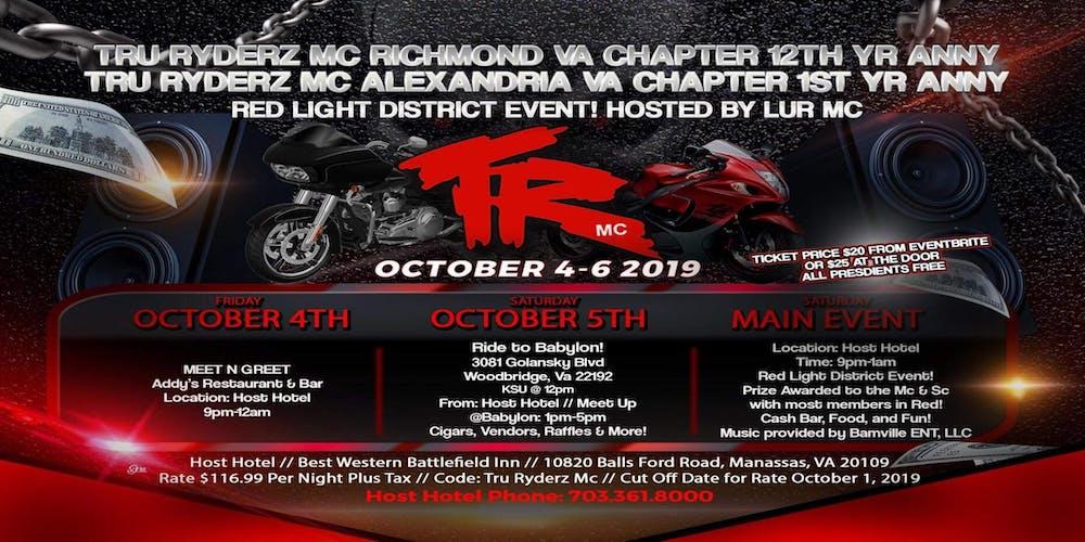 Tru Ryderz Mc Richmond 12th Alexandria Va 1st Anniversary Tickets