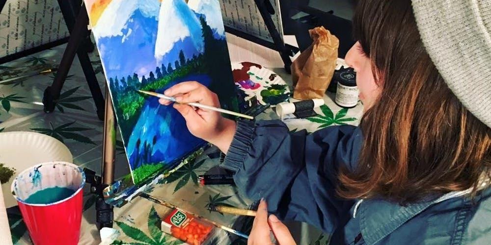 Puff, Pass and Paint- 420-friendly painting in Los Angeles! 21+