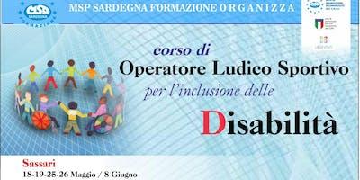 """CORSO MSP ITALIA: """"OPERATORE LUDICO-SPORTIVO PER L'INCLUSIONE DELLE DISABILITA' """"-SASSARI"""