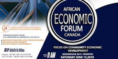 AFRICAN ECONOMIC FORUM CANADA (Focus on Community Economic Development)