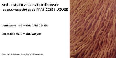 Vernissage des œuvres peintes de François Nugues au Sablon