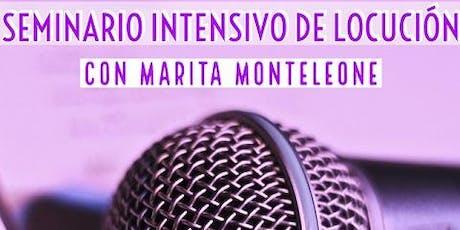 Seminario Intensivo de Locución con Marita Monteleone entradas