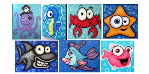 Kid's Paint Night Goes Under the Sea with Sand Art