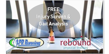Free Injury Screening by Rebound PT tickets