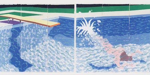 Saturday Social Painting: A Diver by David Hockney, Jun 29
