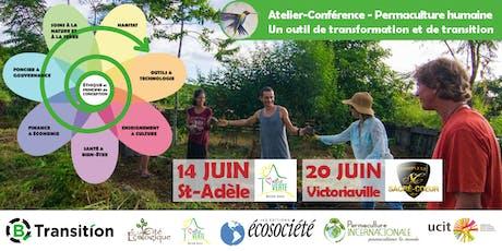 Atelier-conférence – La Permaculture Humaine (à Victoriaville) tickets