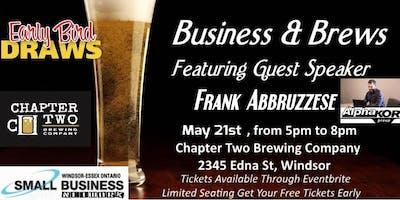 Business & Brews Special Event Guest Speaker Frank Abbruzzese