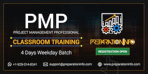 PMP Exam Prep Classroom 4 Days Weekday Training in...