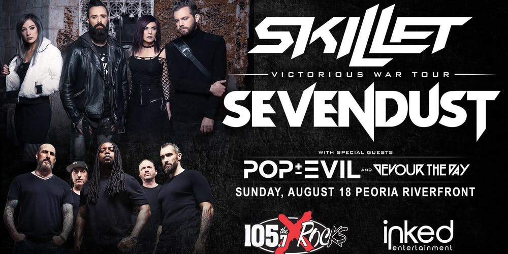Skillet & Sevendust: Victorious War Tour Tickets, Sun, Aug 18, 2019