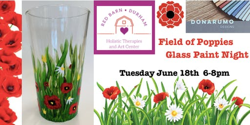 Field of Poppies Glass Paint Night