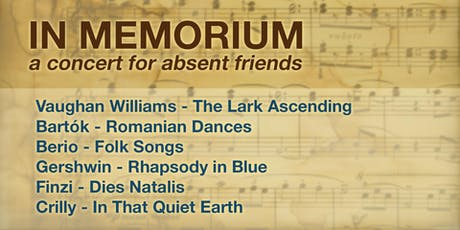 In memorium - a concert for absent friends tickets