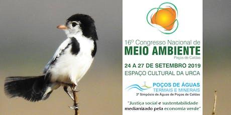 16º Congresso Nacional de Meio Ambiente de Poços de Caldas ingressos