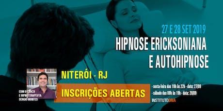 Hipnose Ericksoniana e Auto-Hipnose bilhetes