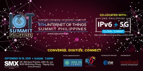 IoT Summit and IPVG6 + 5G Global Summit tickets
