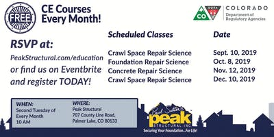 Free CE Course - Crawl Space Repair Science (2 Credits)