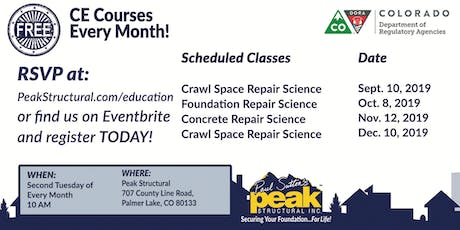 Free CE Course - Foundation Repair Science (2 Credits) tickets