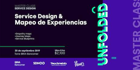 Masterclass Service Design & Mapeo de Experiencias - UNFOLDED boletos
