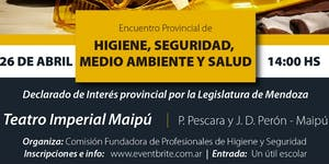 ENCUENTRO PROVINCIAL de HIGIENE, SEGURIDAD, MEDIO...
