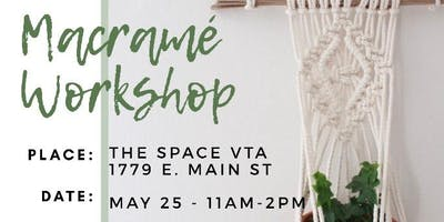TheSpaceVta Macrame Workshop w/ c by the sea shoppe