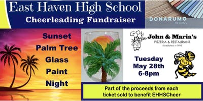 Sunset Palm Tree Glass Paint Night - EHHS Cheer Fundraiser