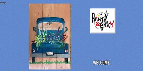 "Paint and Enjoy at Benigna's Winery ""Welcome"" on Wood  tickets"
