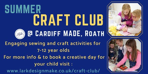 Summer Holiday Craft Club for 7-12 year olds