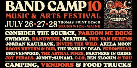 BAND CAMP 10, July 26, 27 28, Thomas Point Beach & Campground tickets