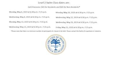 Shenandoah Pool Level 2 Swim Class Monday/Wednesday (6:30 p.m.-7:15 p.m.)