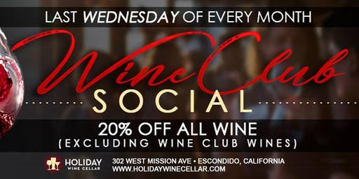 #WineSocial | Wine Club Wednesday | NON-Members Welcome