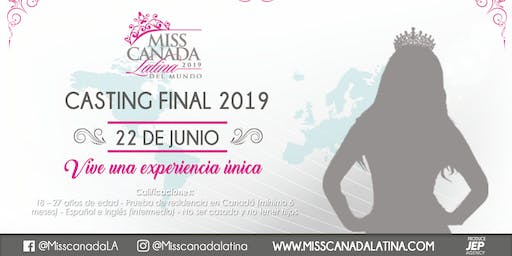 Miss Canadá Latina fourth casting