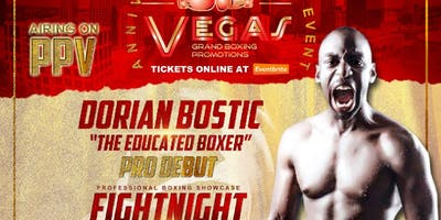 """Dorian """"The Educated Boxer"""" Bostic Live Pro Boxing Event 5/25/19"""