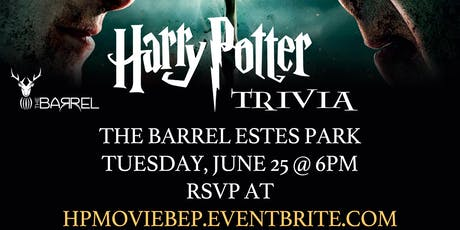 Harry Potter (Movie) Trivia at The Barrel Estes Park tickets