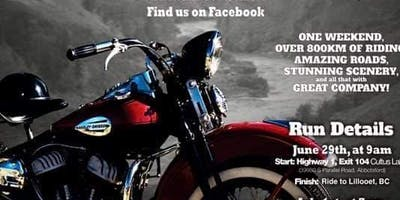 5th vintage motorcycle Canyon run  june 29 june 30 2019