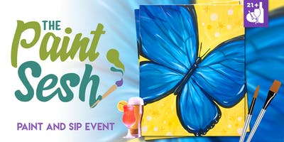 """Paint Night in Riverside, CA - """"Free Spirit Butterfly"""""""