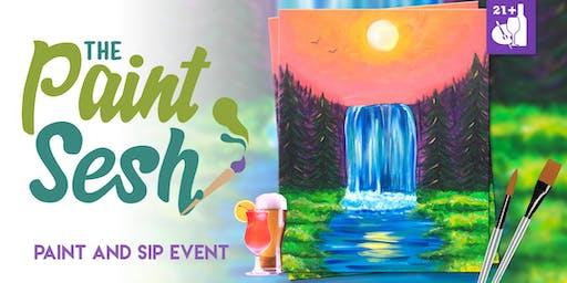 "Paint night in Riverside, CA – ""Chasing Waterfalls"""