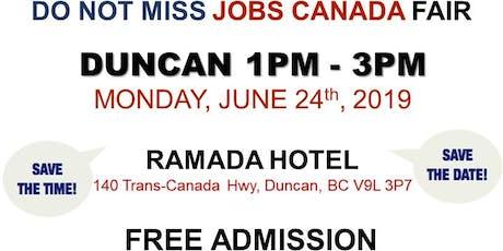 Duncan Job Fair - June 24th, 2019 tickets