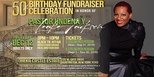 Pastor Undena's 50th Birthday Fundraiser Celebration