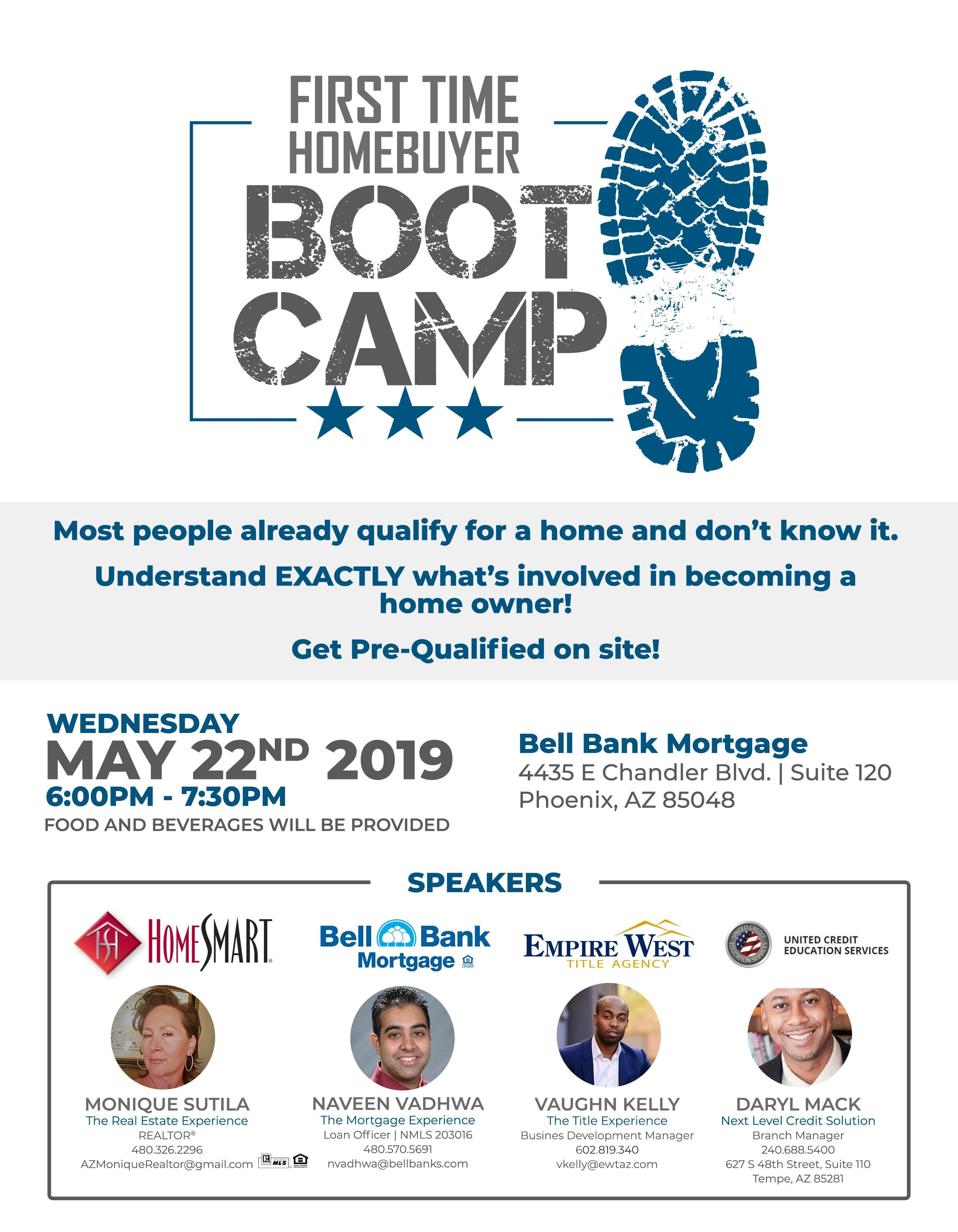 First Time Home-buyer Boot Camp