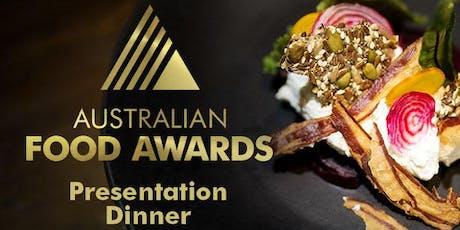 Australian Food Awards Presentation Dinner 2019  tickets