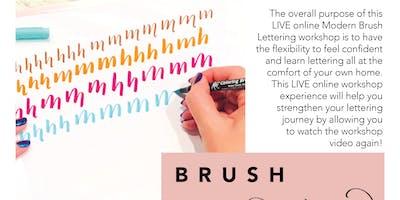 ONLINE LIVE WORKSHOP | Beginner's Modern Brush Lettering