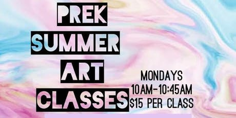 Prek Summer Art Classes tickets