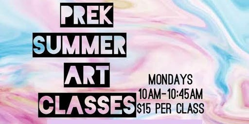 Prek Summer Art Classes