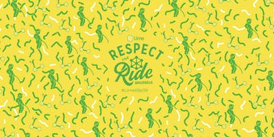 Respect The Ride Brussels Event  - Lime helmet give-away to promote safety