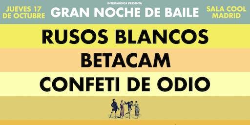 Rusos Blancos + Betacam + Confeti de Odio en Madrid (Cool Stage)