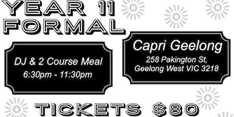 Year 11 Formal tickets